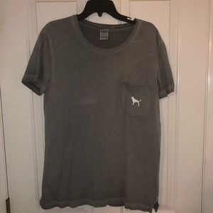PINK gray tee, size S